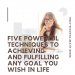 Five Powerful Techniques To Achieving and Fulfilling ANY Goal You Wish In Life
